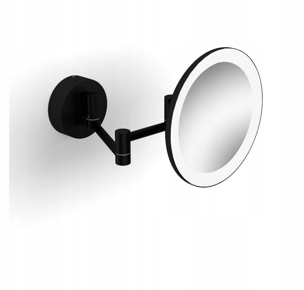 Kozmetické zrkadlo Stella matná čierna 22.00230-B