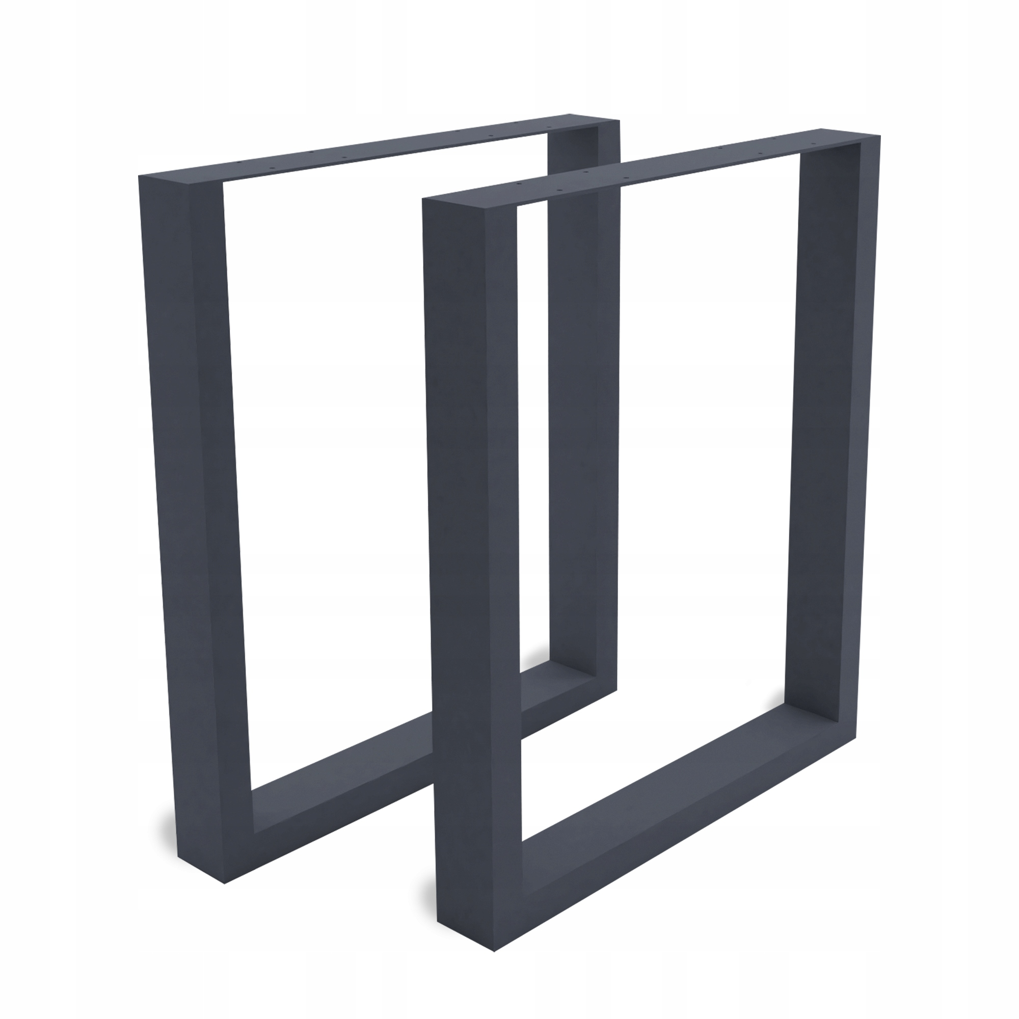 2x kovové stolové nohy 40x42 cm antracitové 6x2 cm