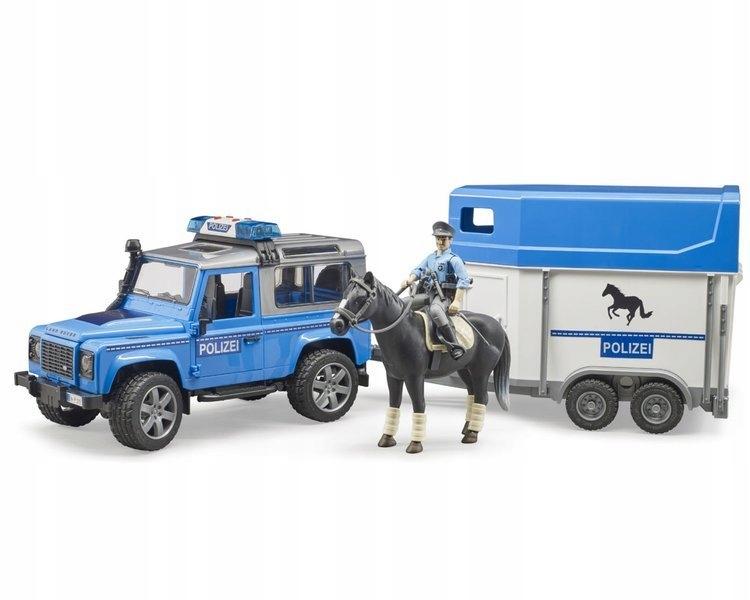 Bruder 02588 Polícia s prívesom pre figúrku koňa
