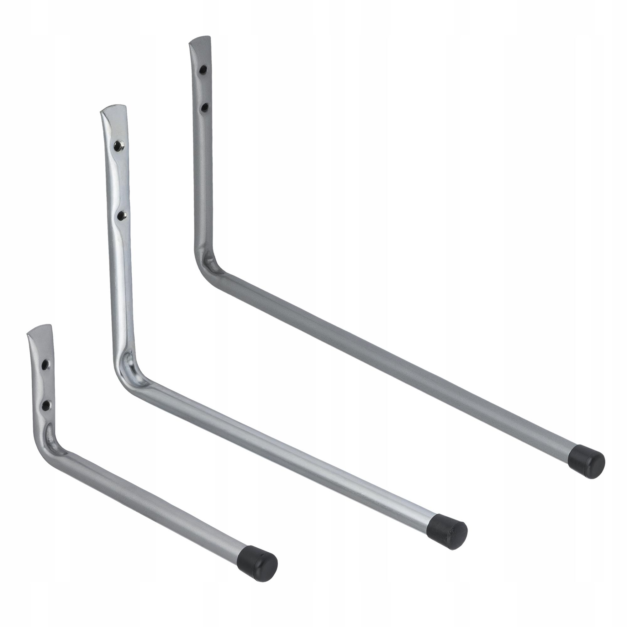 2x Hak garażowy ścienny - prosty - HPP 180x90
