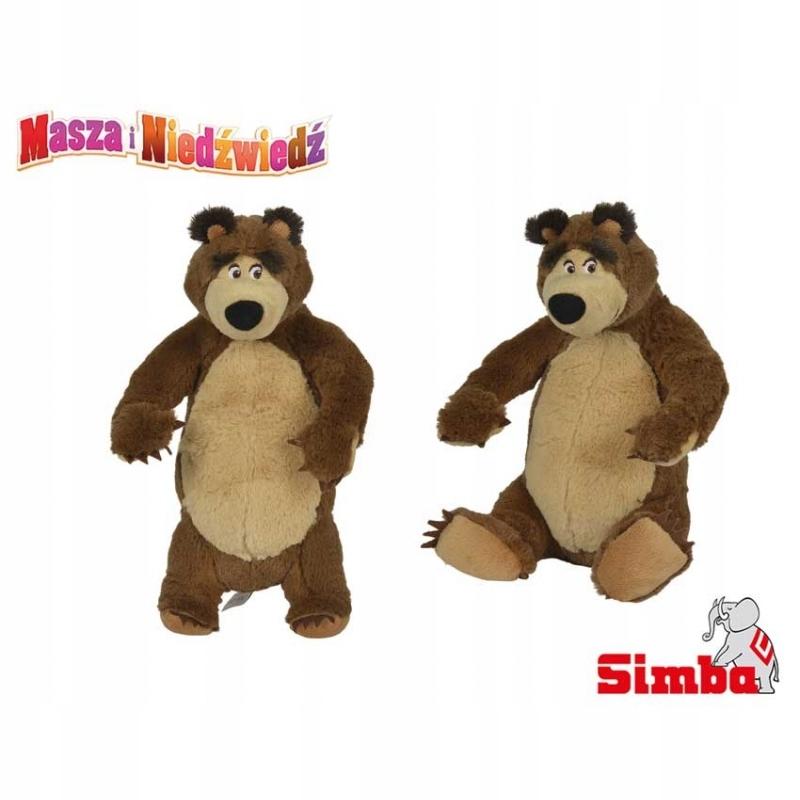 SIMBA Máša a medveď PLUSH BEAR v stoji 25 ° C
