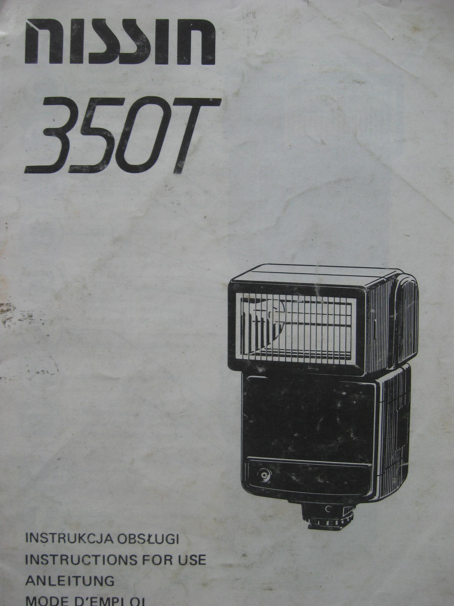 Flash Nissin 350T inštrukcie