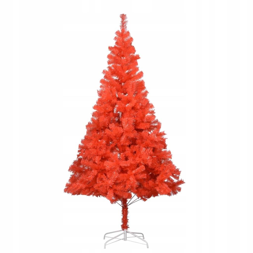 Umelý vianočný stromček so stojanom, červený, 180 cm, str