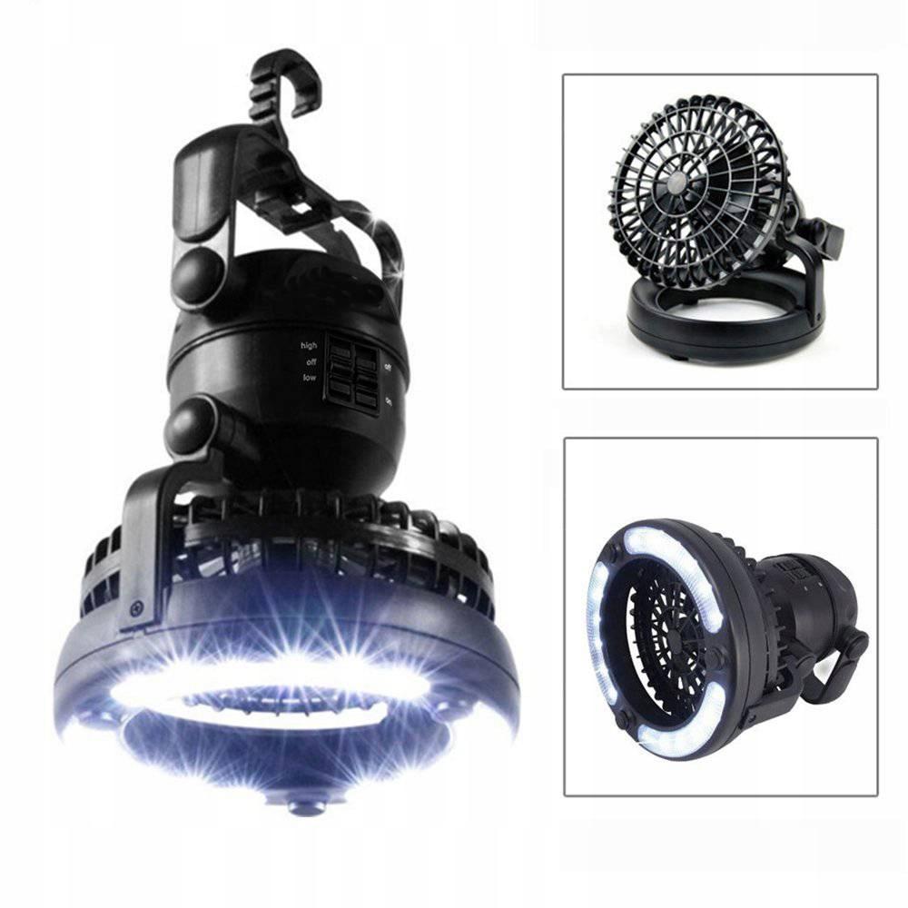 Аккумулятор для вентилятора WIND со светодиодной лампой для кемпинга