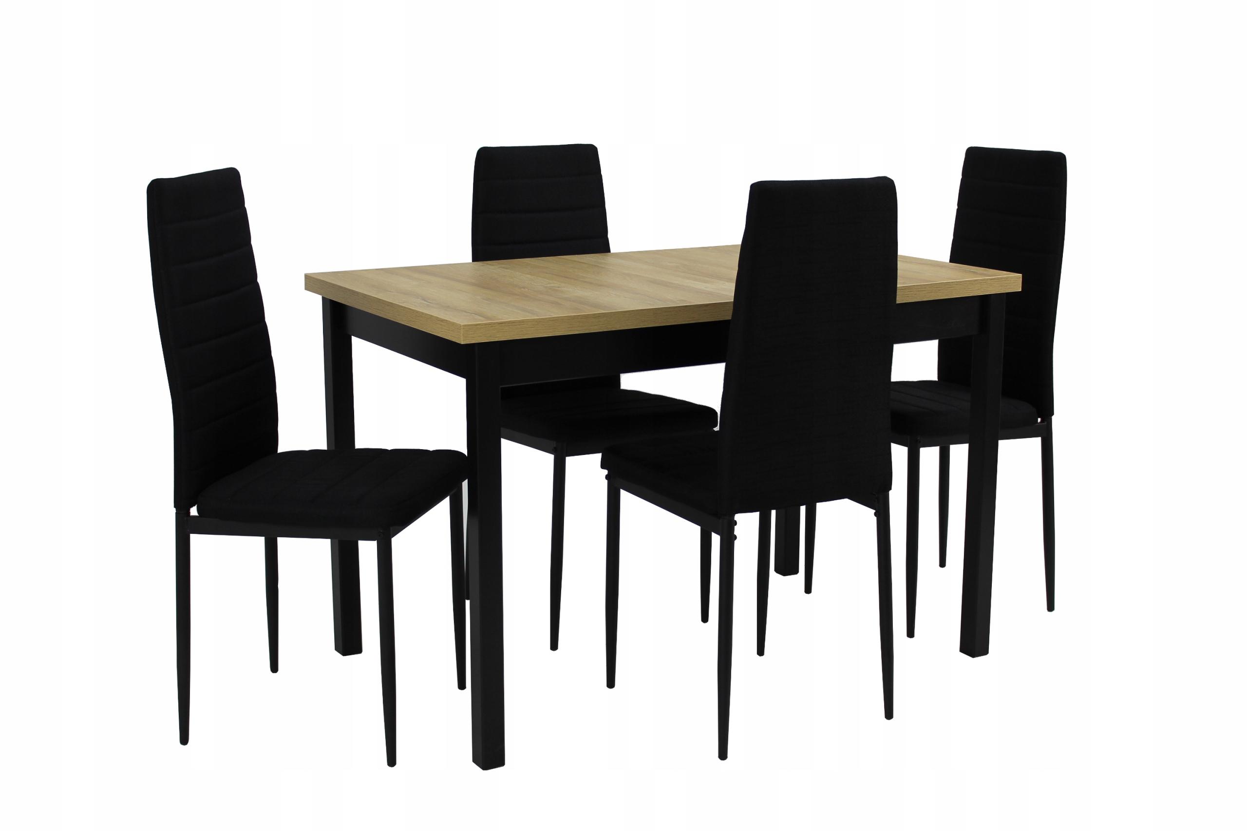 Stół 70x120/160 i 4 krzesła ZESTAW LOFT
