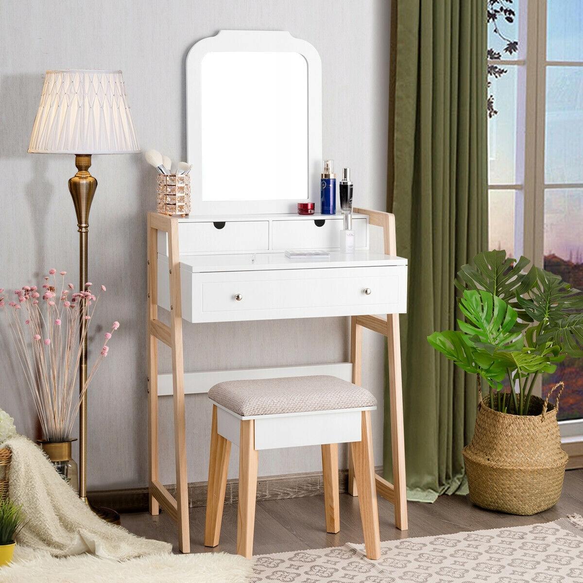 Туалетный столик COSMETIC с зеркалом новый дизайн Количество ящиков 1
