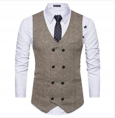 ortowiec Britská retro vesta Pánska vesta