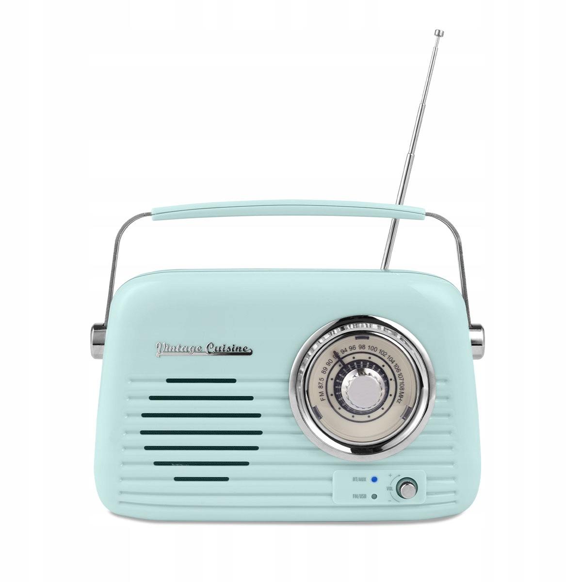 Chrómové rádio Vintage Cuisine s reproduktorom