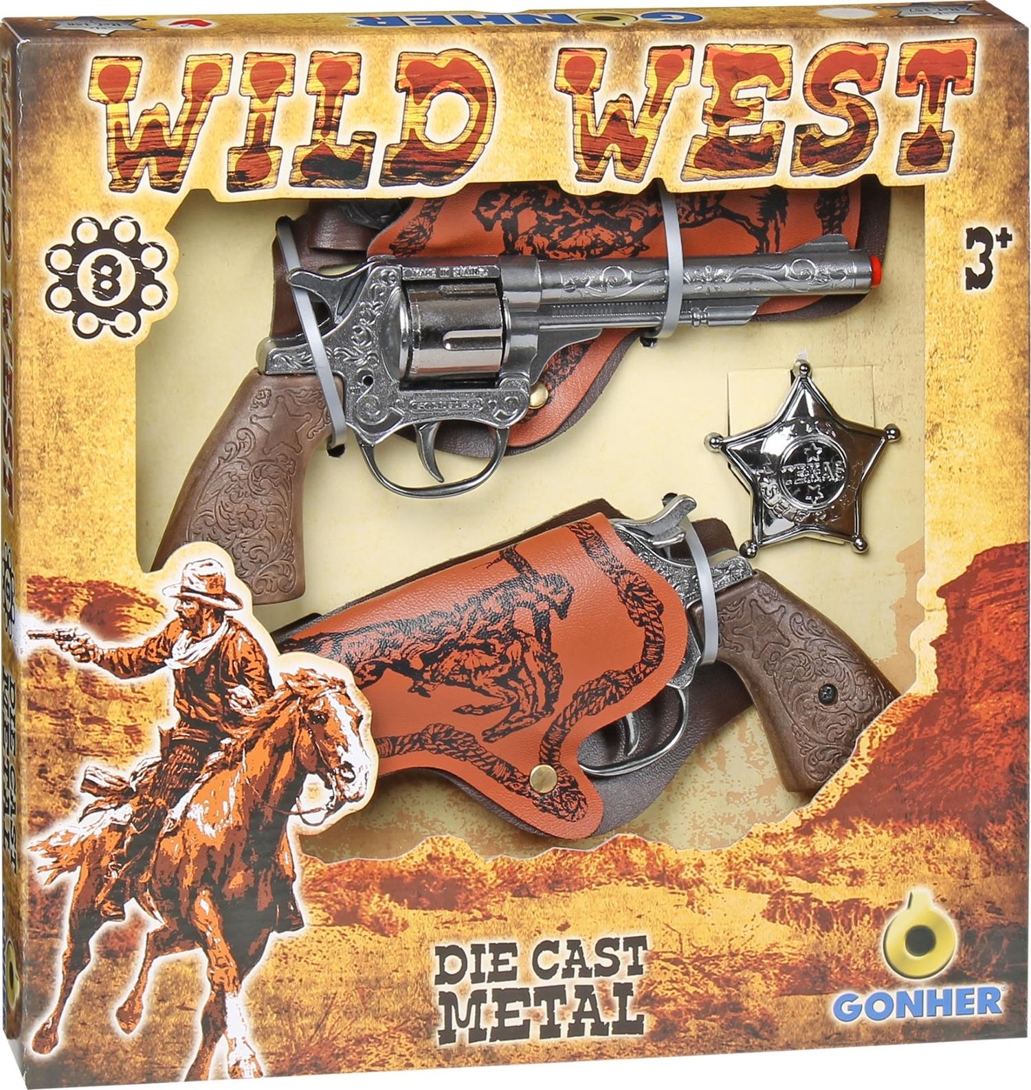 GONHER Cowboy set Revolvers s púzdrami 158/0