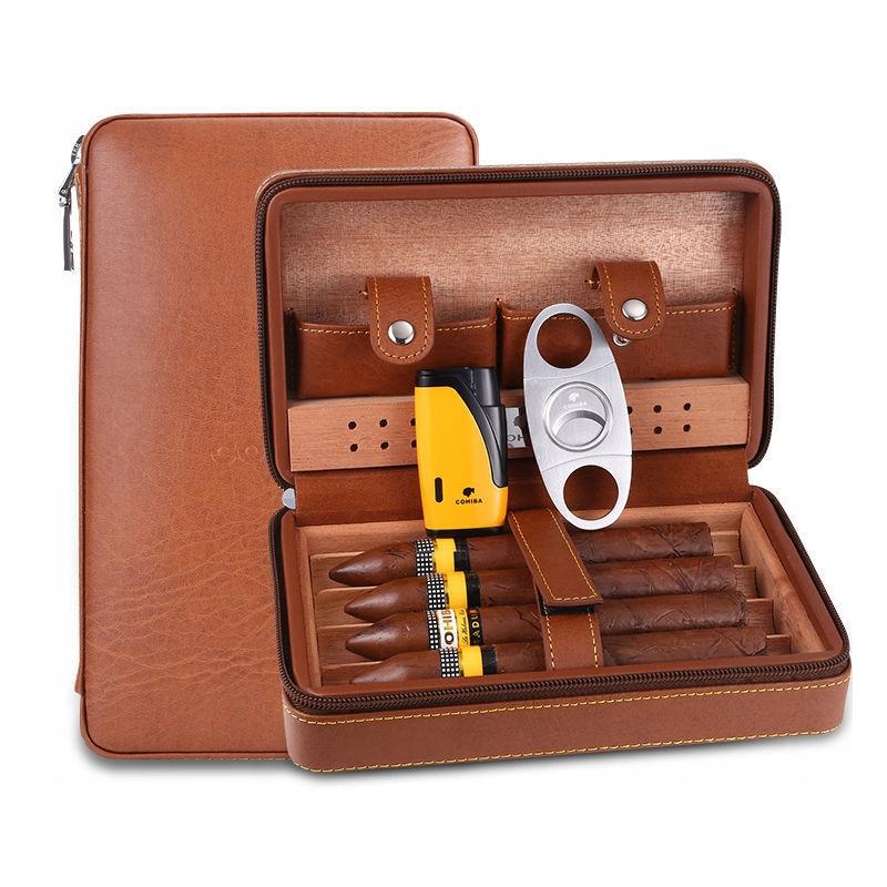COHIBA Leather Wood футляр для хьюмидора для сигар