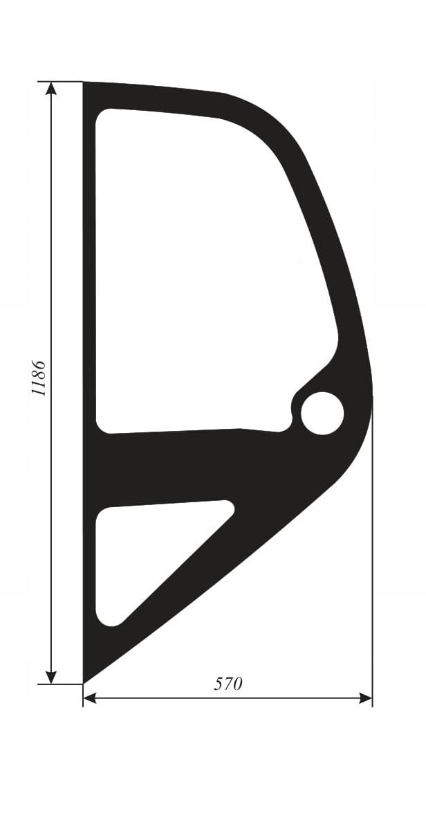 Левое боковое стекло Manitou MLT 523, 629, 630, 634