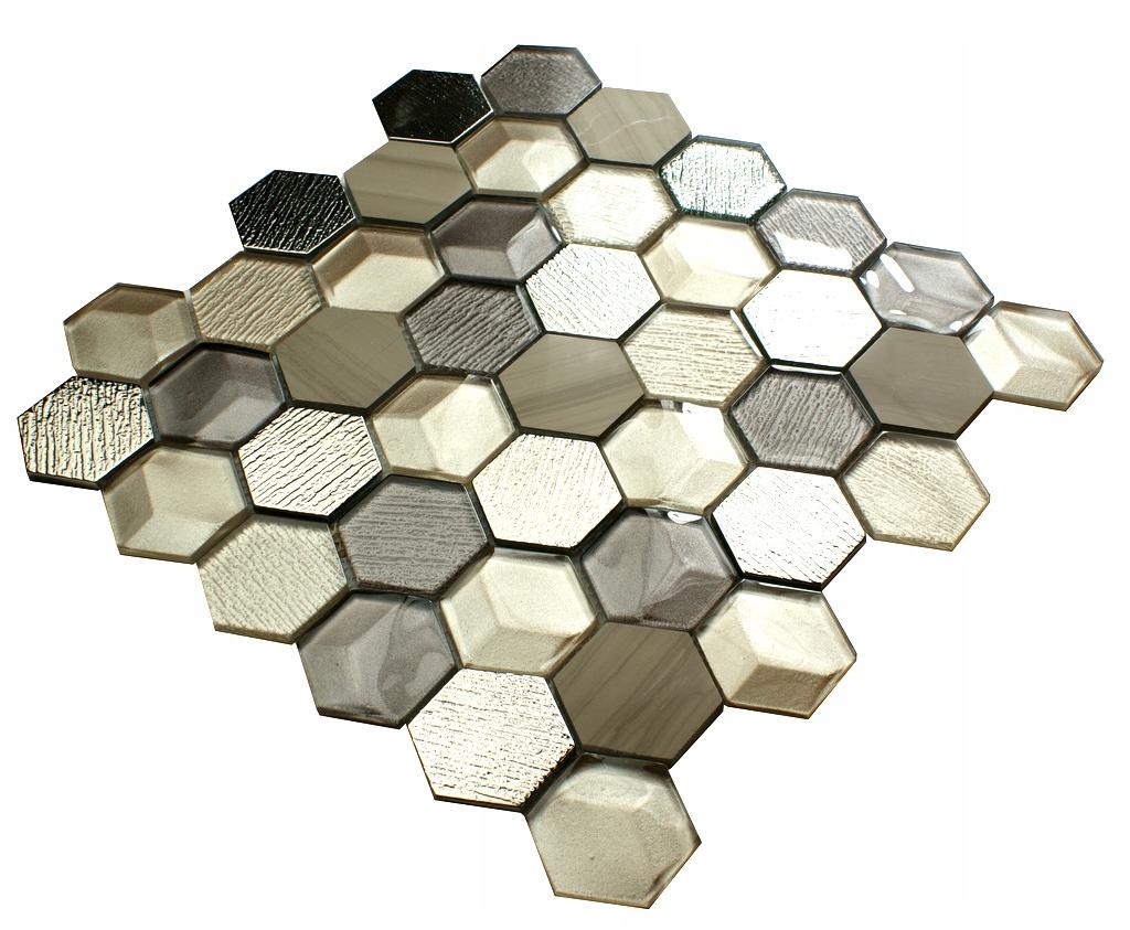 Mozaika szklana srebrna złota brązowa MILD AZTECA