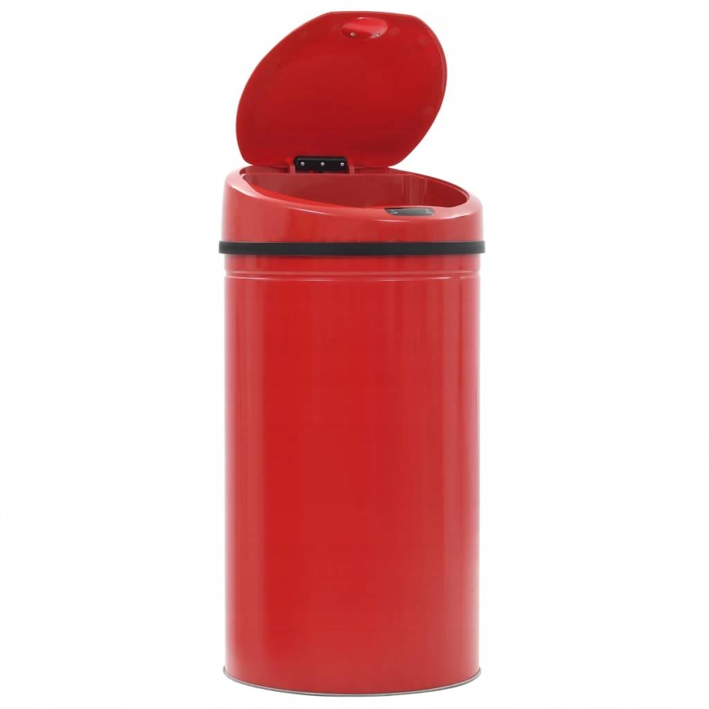 Odpadkový kôš so senzorom, 42 L, červený