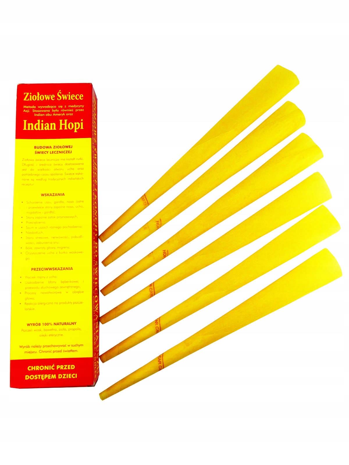 Ziołowe świece Konchy Indian do świecowania uszu