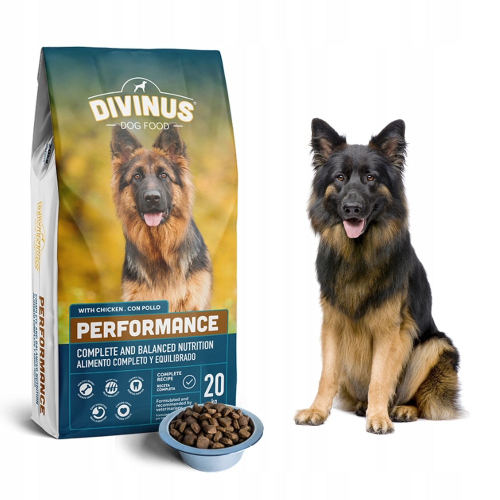 Divinus Performance ДЛЯ ОВЧАРКИ 42% мяса 20 кг