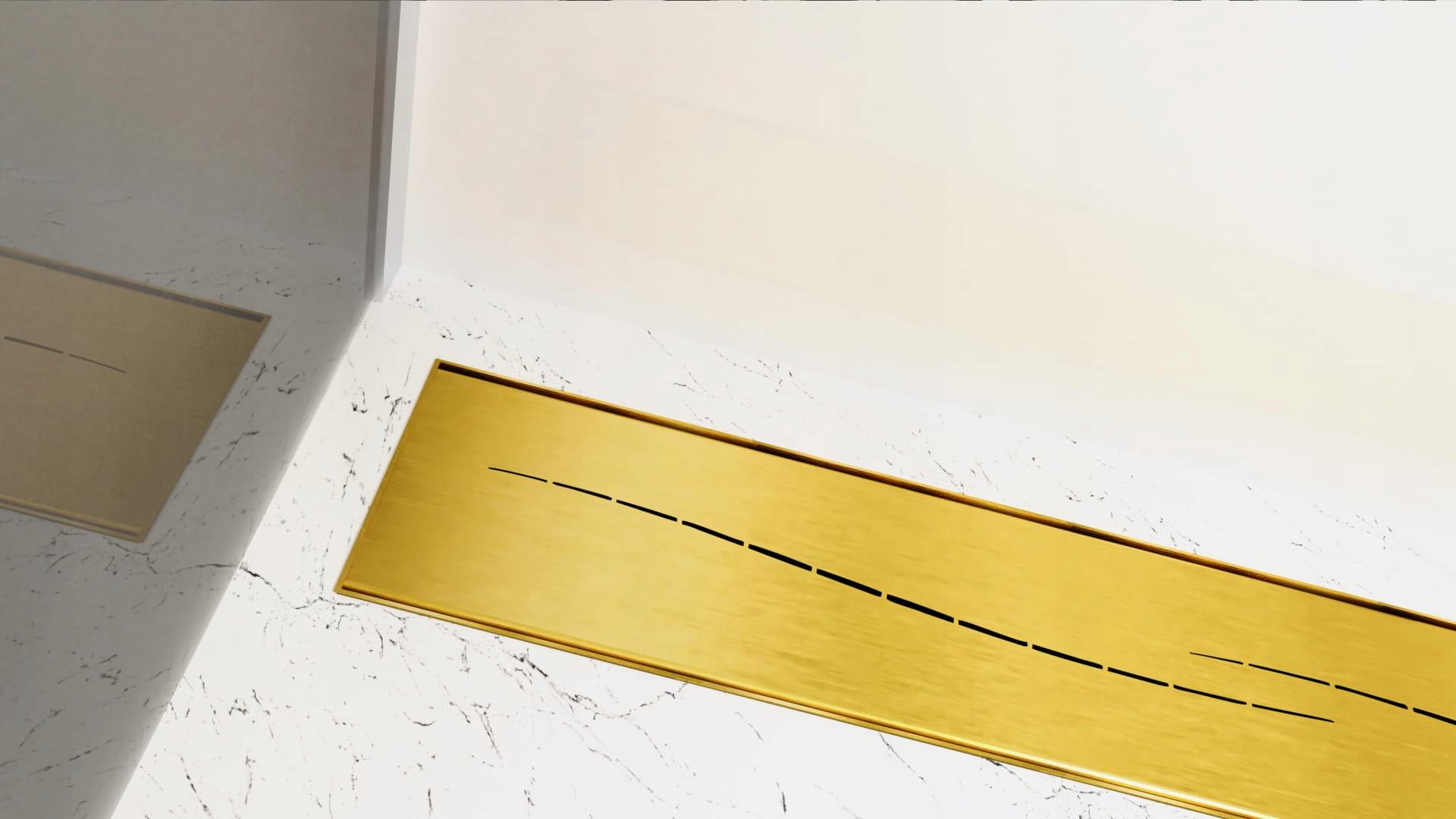 Lineárny odtok CEDOR Premium Gold Gold SEA 130cm