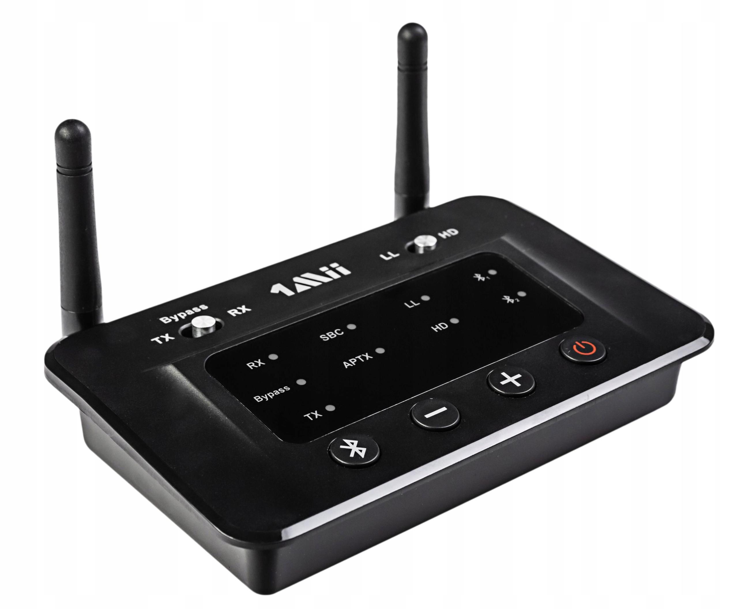 Nadajnik Odbiornik Bluetooth NFC 1Mii B03 do 70m Model Audio Bluetooth 1Mii B03