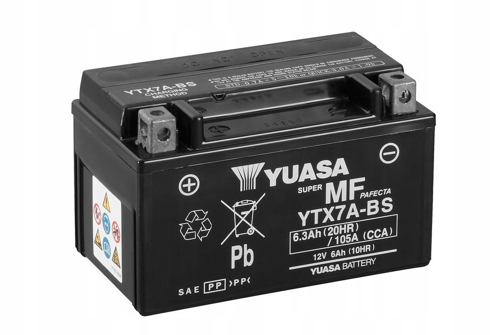 Batéria Yuasa YTX7A-BS 12V 6,3Ah 105A