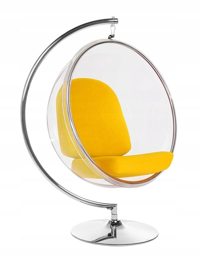 STOJAN BUBLINA stoličky žltá vankúš stojan chrome