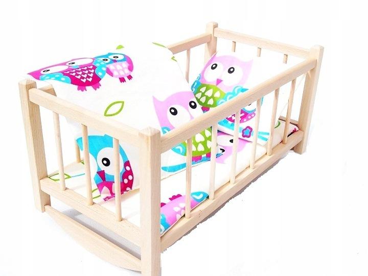 Drevená COT - kolíska pre bábiky + ZATVÁRANIE