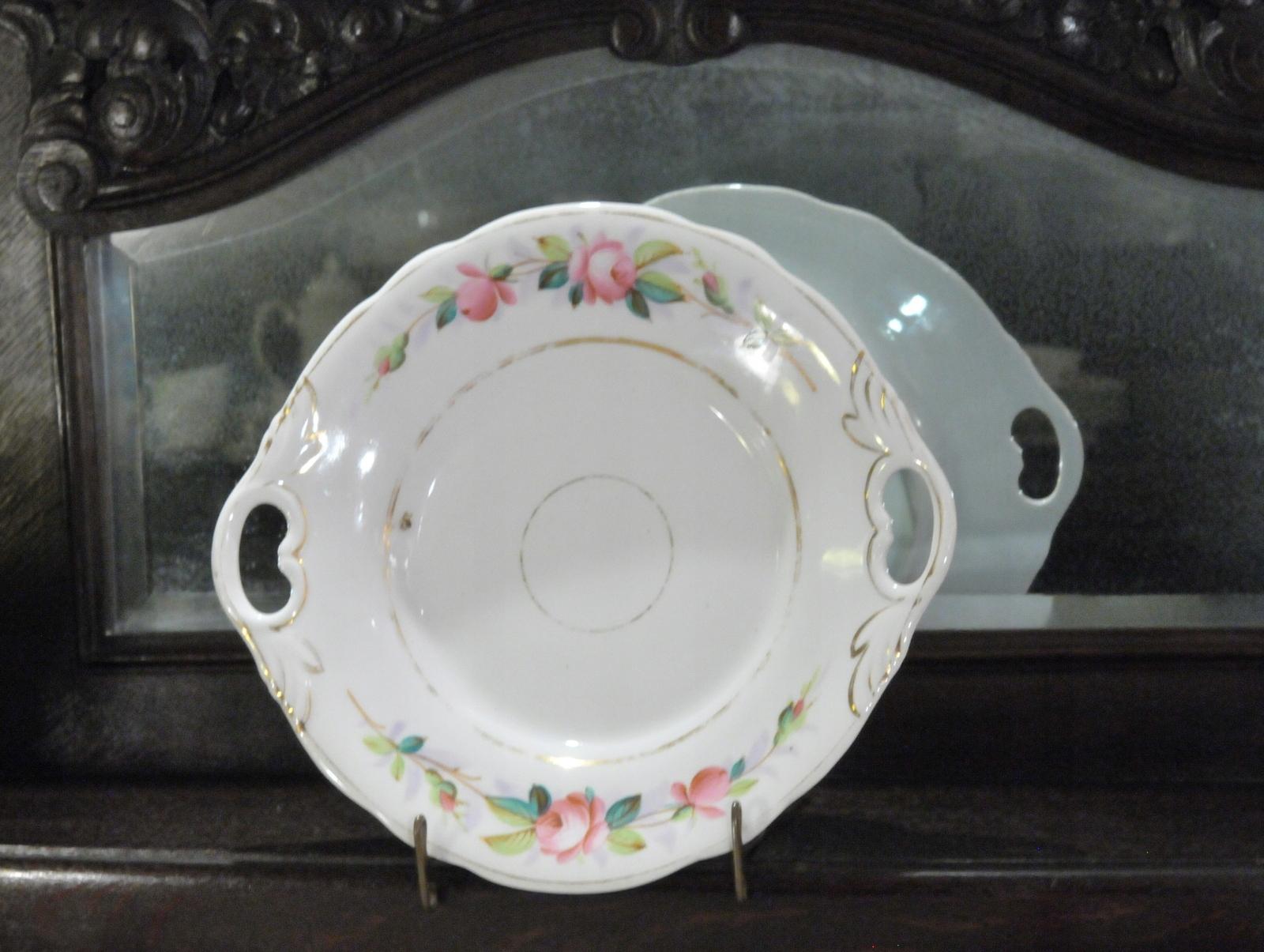 KPM Wałbrzych чаша с розами 1850 г.