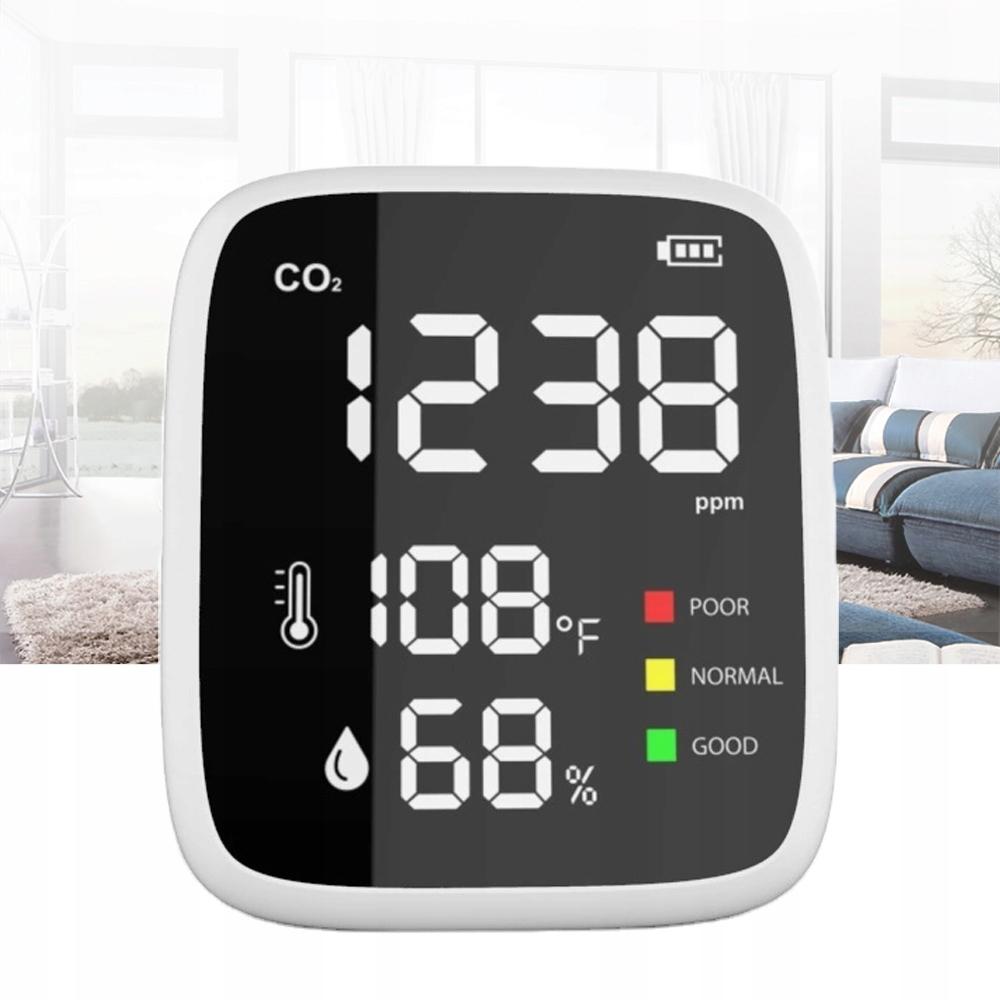 CZUJNIK MIERNIK CO2 DWUTLENKU WĘGLA Temp. Wilg. Rodzaj czujnika temperatury wilgotności inny