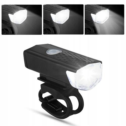 2 szt LAMPKA ROWEROWA LED zestaw TYŁ PRZÓD na USB Kod producenta Lampki rowerowe