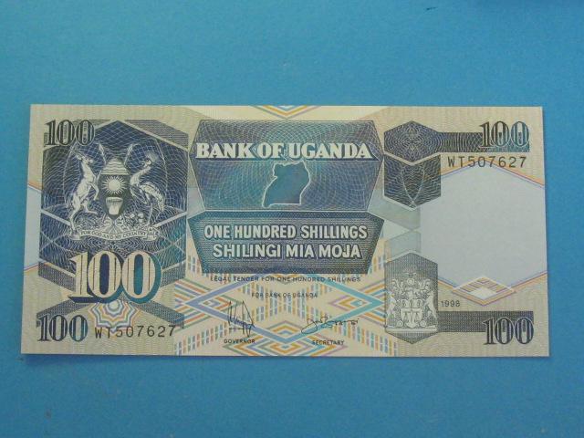 Uganda 100 Shillings 1998 UNC P-31c Rzadszy !