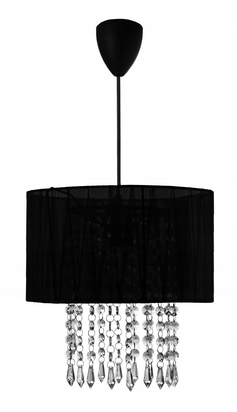 Moderný luster black crystal elegantné