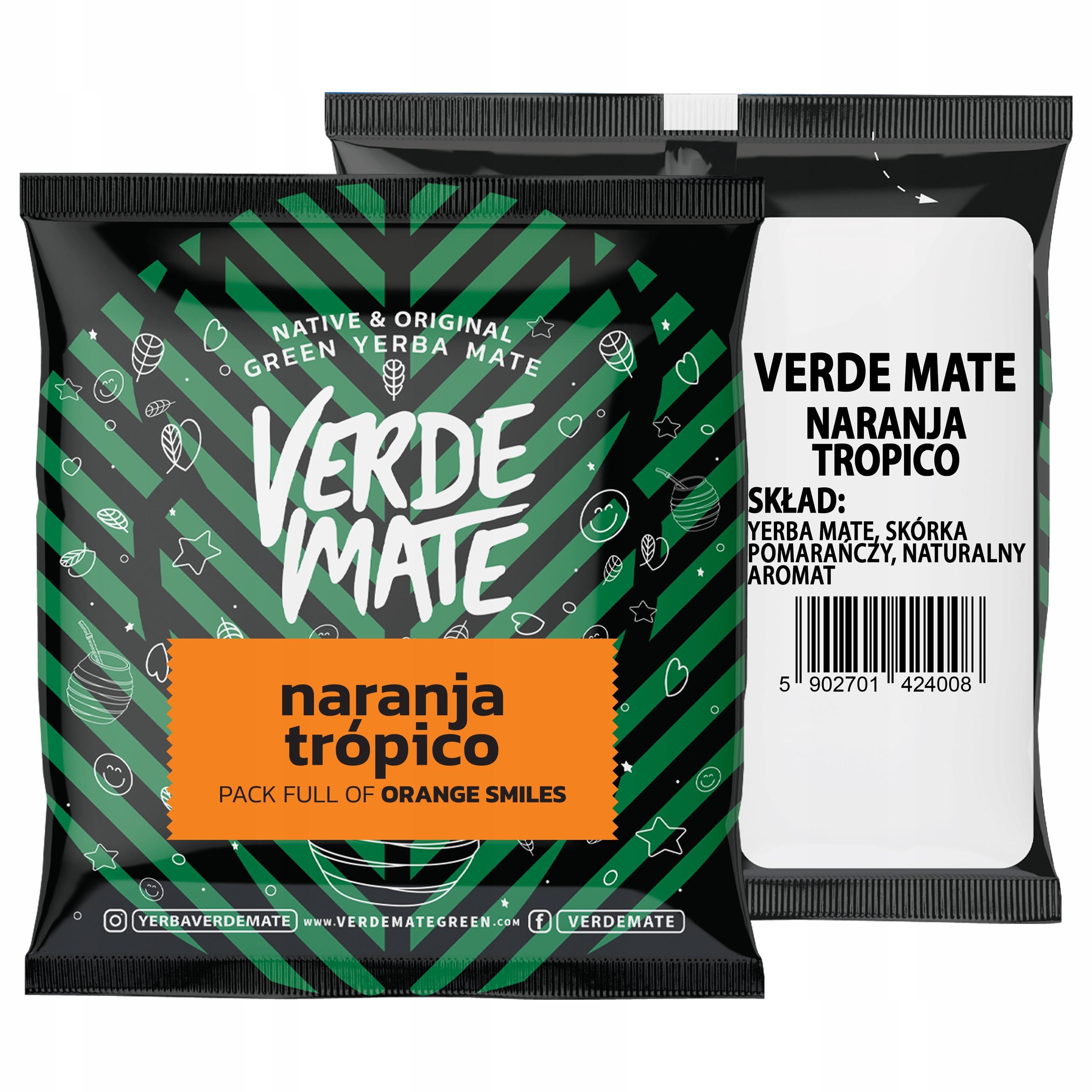 Yerba Verde Mate Green Naranja Tropico 50g próbka