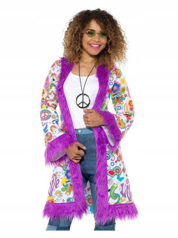 Kabát Hippies, S/M, Hippie, 60, Retro