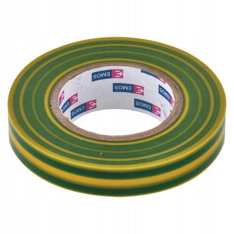 Taśma izolacyjna zielono-żółta 15 / 10 EMOS PVC