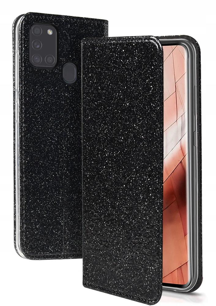 Etui do Samsung Galaxy A21S Magnet Brokat + SZKŁO