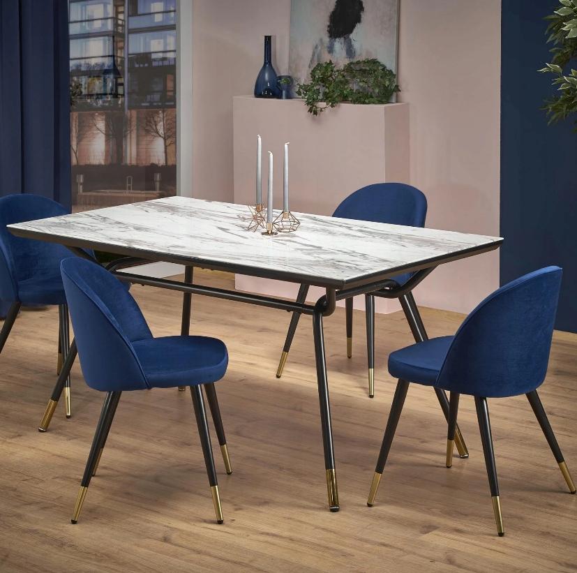 Krzesło tapicerowane Zieleń welur złoto Marka Inny producent