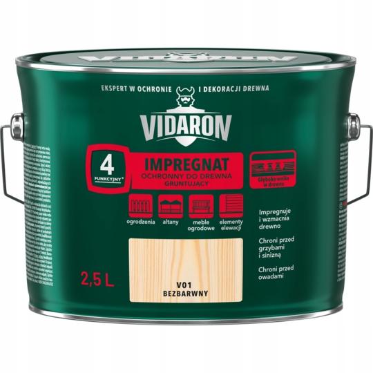 Vidaron пропитка грунтовка для древесины 2,5 Л Бесцветный
