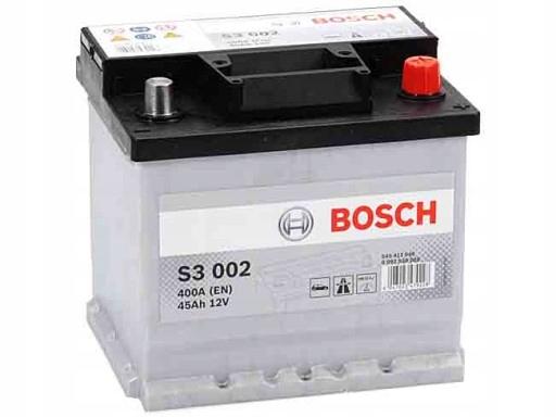 аккумулятор 45 ах bosch s3 400 a
