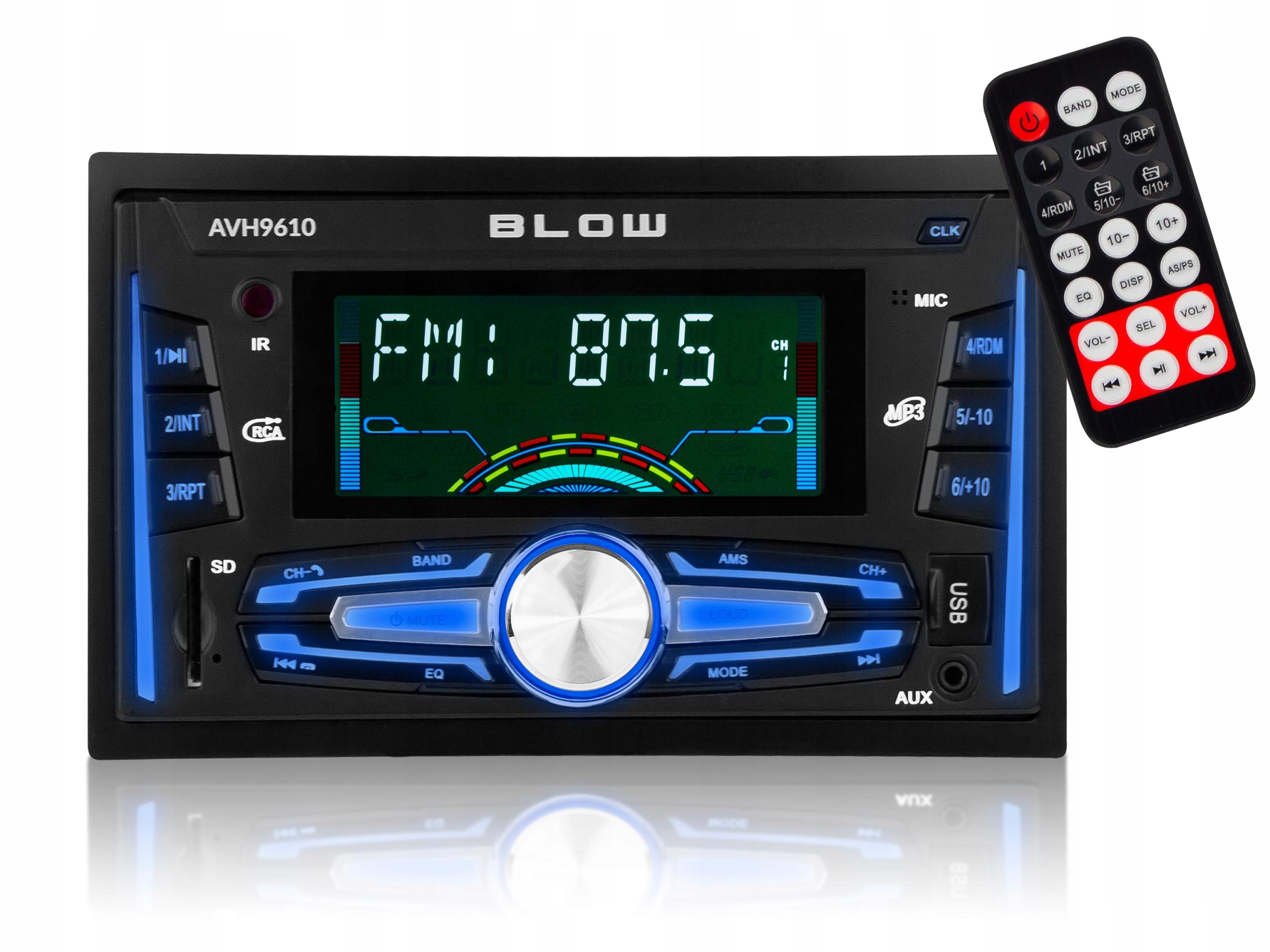 BLOW автомобильное радио с bluetooth SD USB-пульт 2DIN