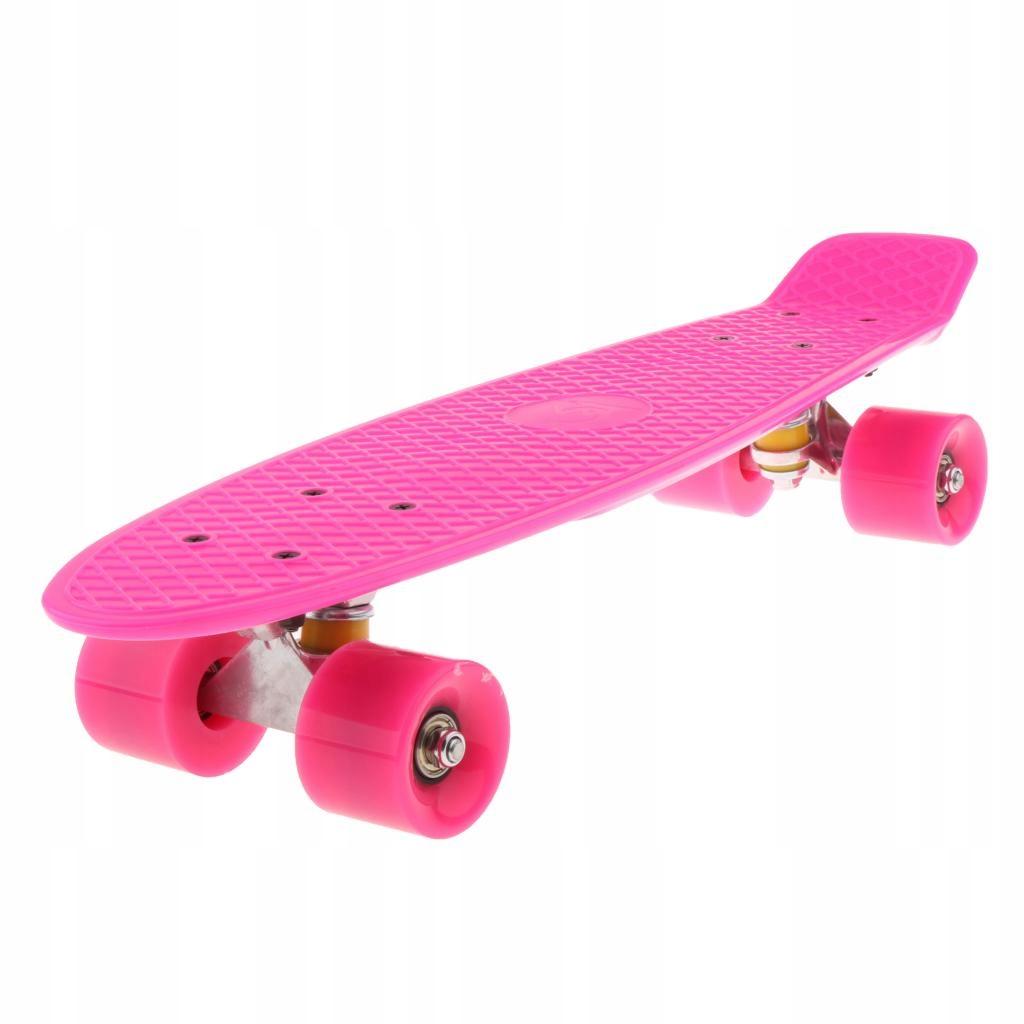 22 palcový skateboard Cruiser - ružový
