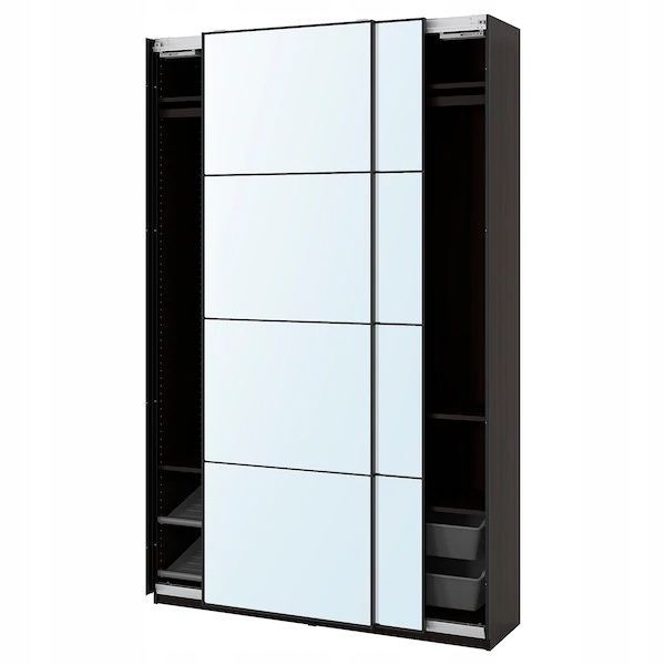IKEA PAX aula šatník Wenge zrkadlo 150x44x236 cm