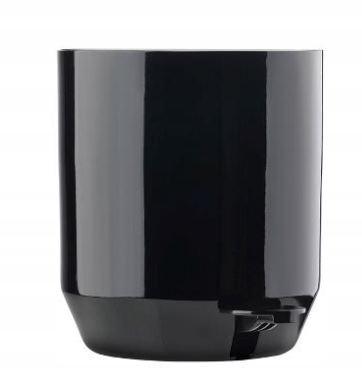 Čierny kúpeľňový kôš SUII - japonský dizajn, 4L