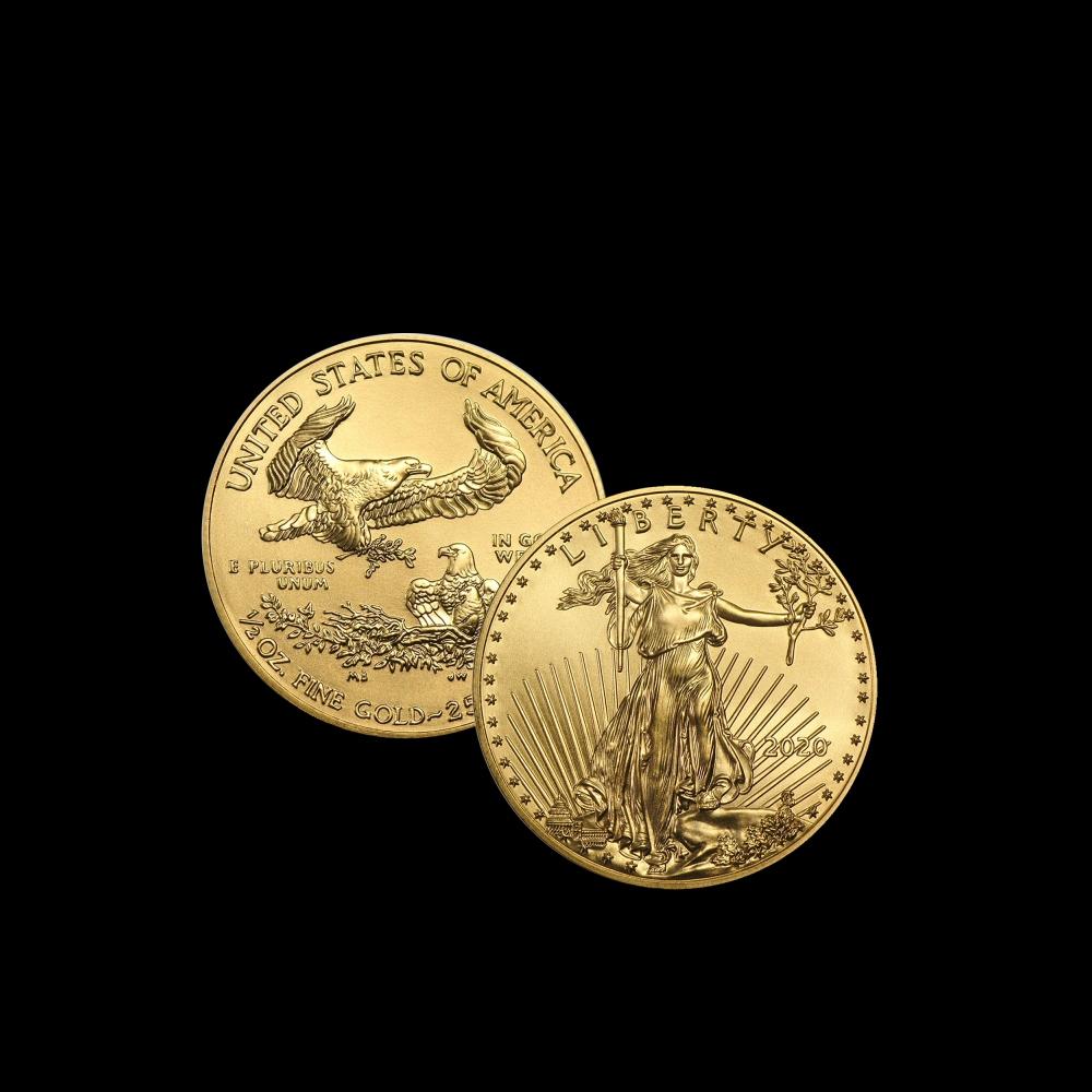 Zlatá minca - LIBERTY 2020 - 1/2 oz -15,5 g