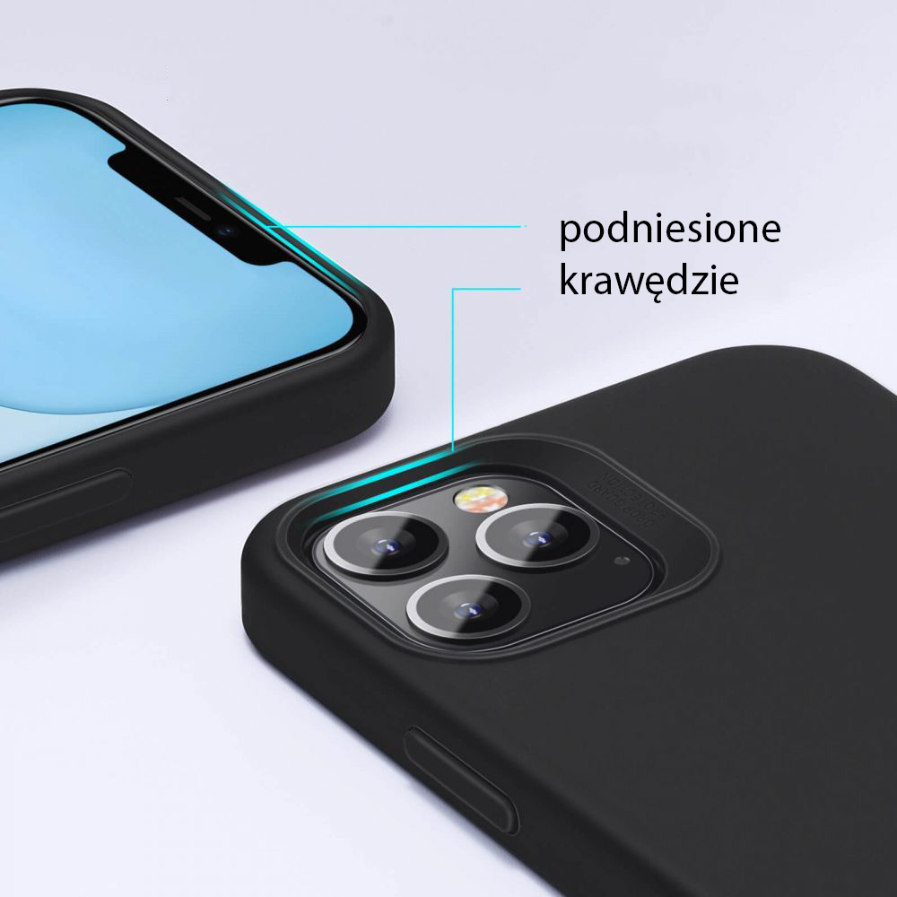 Etui ESR Cloud+ Szkło Płaskie do iPhone 12 Pro Max Kolor granatowy