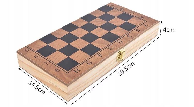 SZACHY DREWNIANE WE WKŁADCE NA PREZENT TURNIEJOWE Maksymalna liczba graczy 2