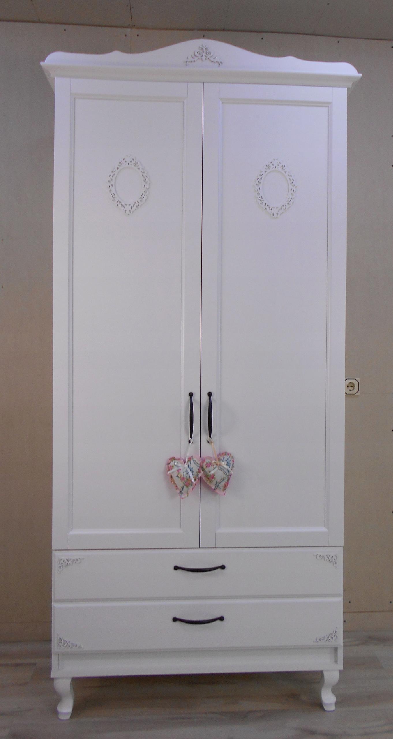 Замечательный 2d прованский гардероб WHITE LUDWIK shabby
