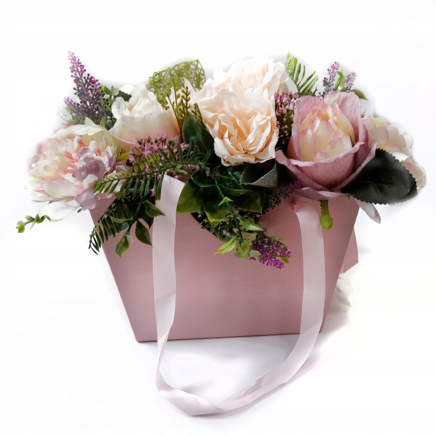 Элегантная пасхальная цветочная коробка