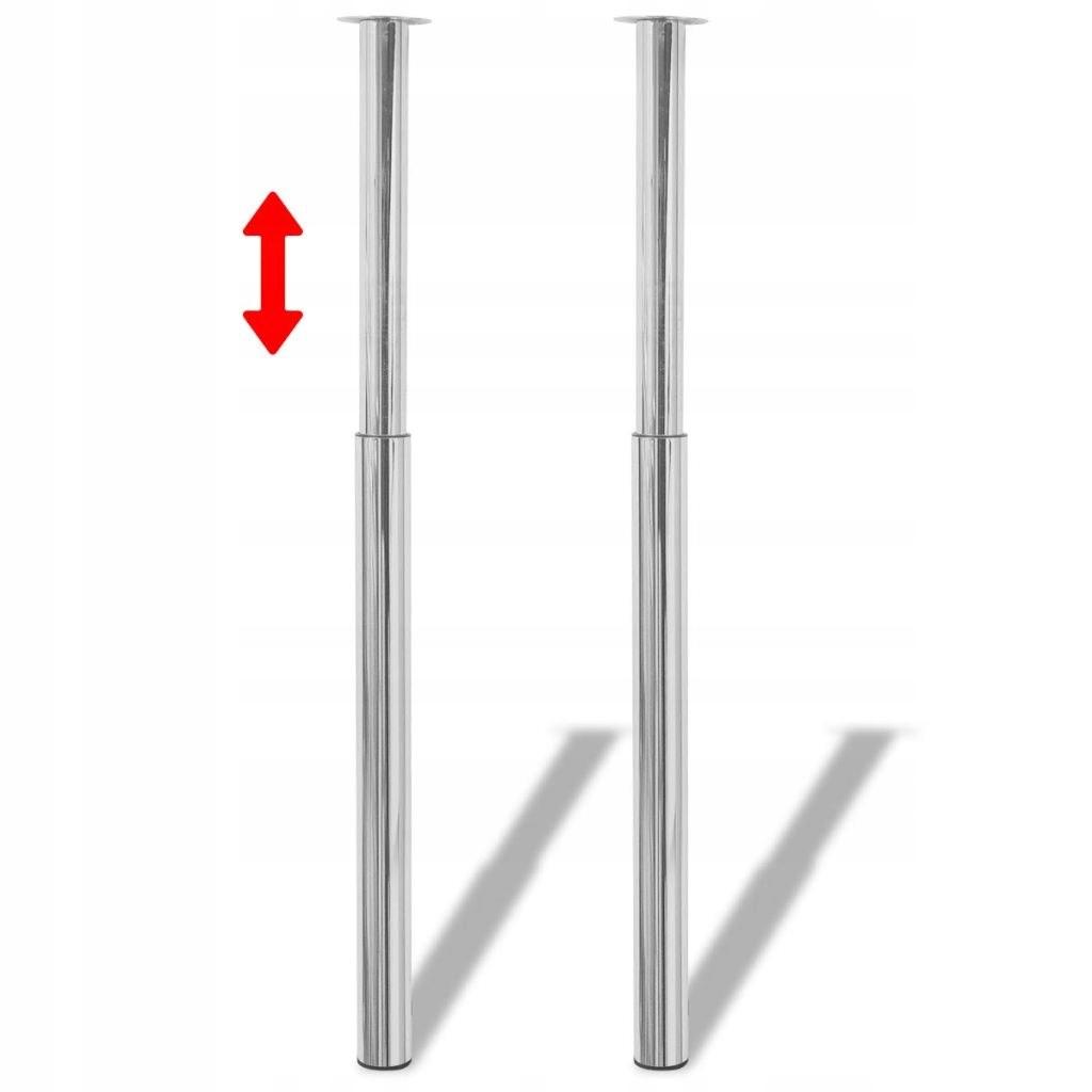 2 teleskopické nožičky pre chrómový stôl 710 - 1100 mm