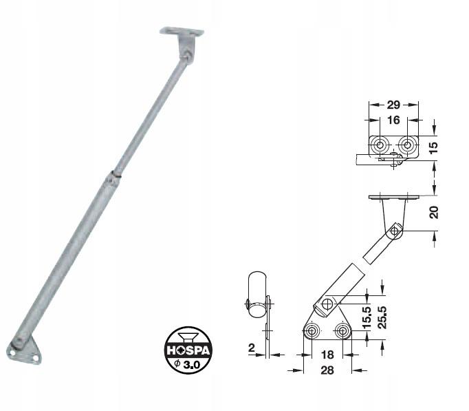 Подъемник, кемпер, прицеп для мебельного люка 250мм