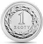 1 злотый 2021 монета из мешка