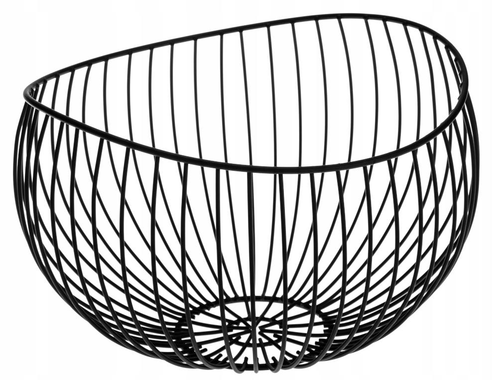 Koszyk misa na owoce metalowy organizer czarny