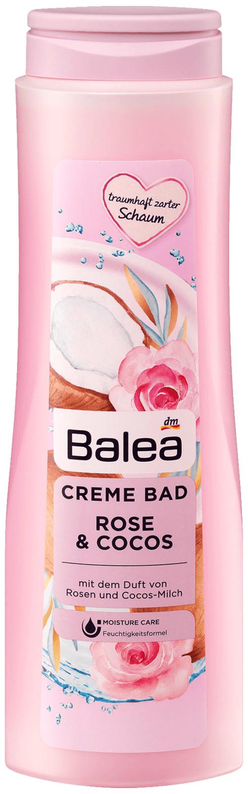 Balea Creme Bad Róża i Kokos Płyn Kąpieli 750ml DE